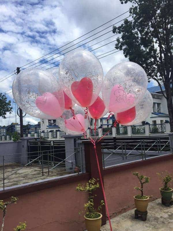 2-in-1 Special Heart Helium Balloon