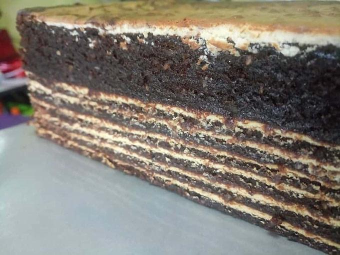 Hazelnut Chocolate Kek Lapis (Kek Lapis Hazelnut Chocolate)
